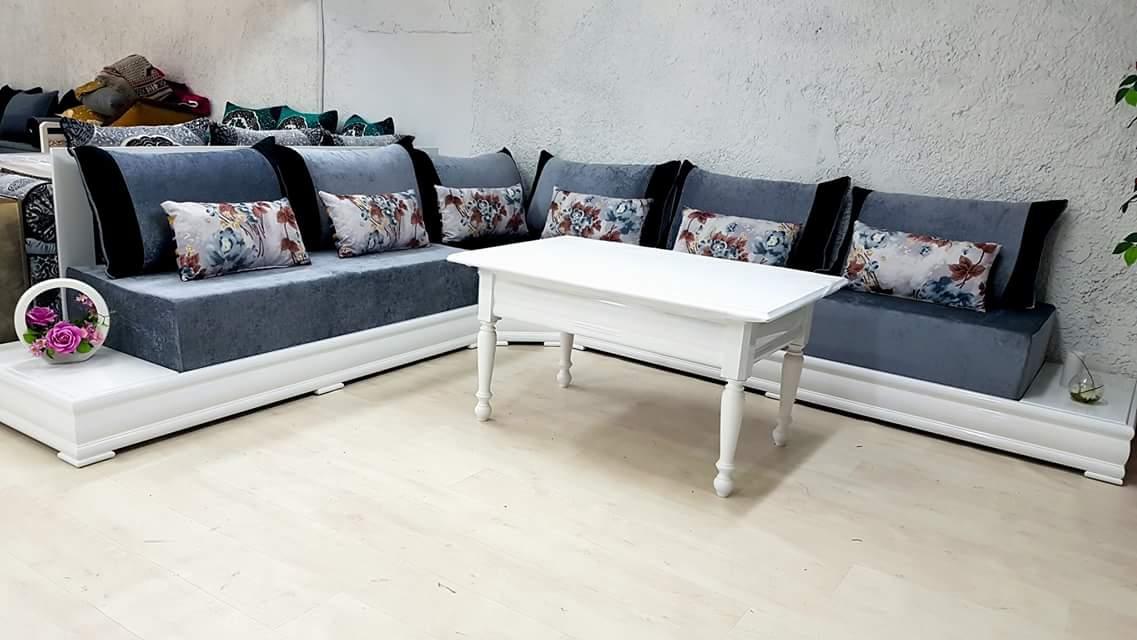 Salon Marocain Simpl Blanc Ii Valence